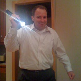 Ninja with a flashlight